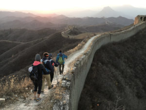 Image of TeamSee Possibilities walking the Great Wall of China