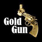 Image of a Gold Gun with Bold white letters reading Gold Gun