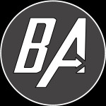 BlindAbilities Logo A black square with white initials, B A.